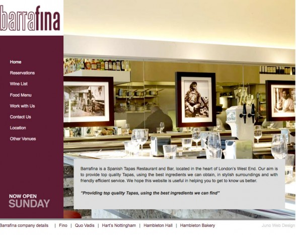 Web Design | Barrafina London