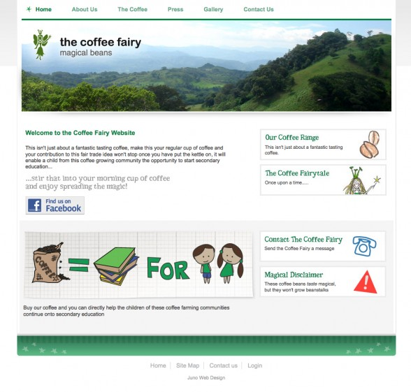 Web design - The Coffee Fairy