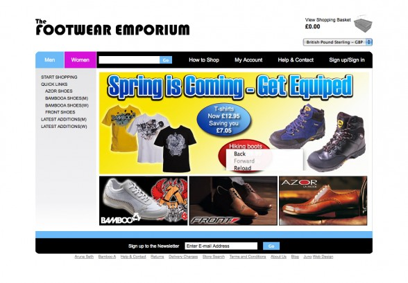 Web Design | Footwear Emporium