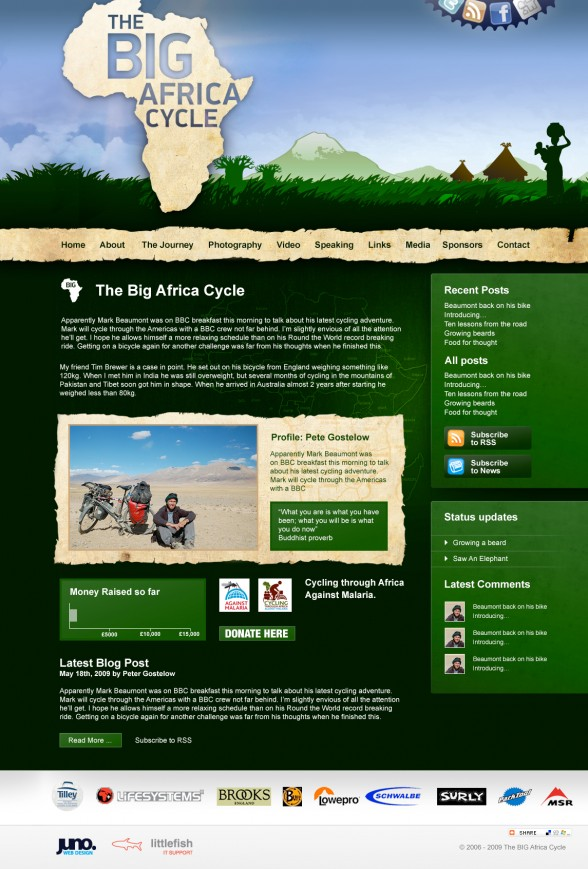 Big Africa Cycle | Web Design