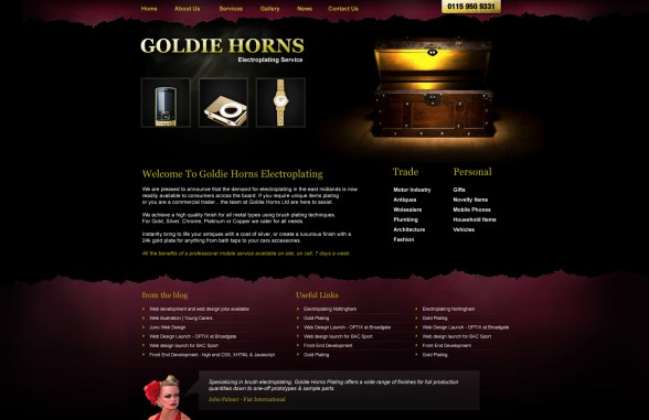 Goldie Horns | Web Design
