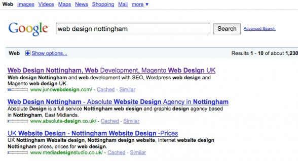 Web Design Nottingham