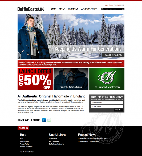 Duffle Coats UK | Web Design