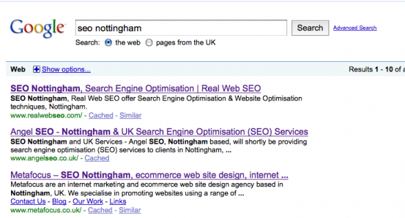 SEO Nottingham | Number One