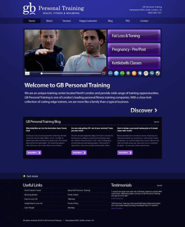 GB Personal Training | New Web Design