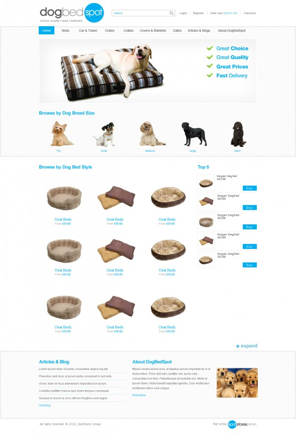 Dog Bed Spot | Web Design