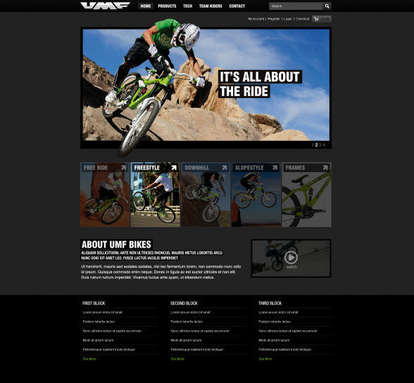 UMF Bikes | Website Design