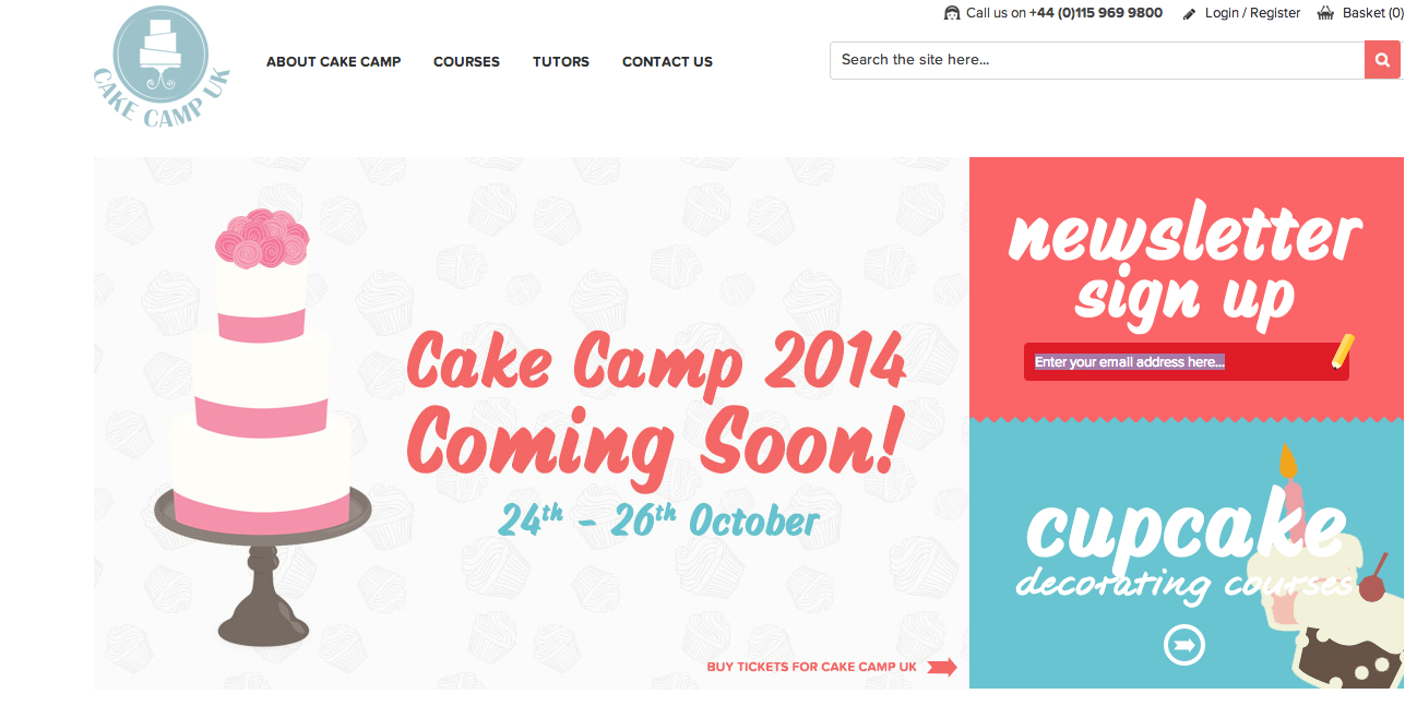 Cake Camp Website