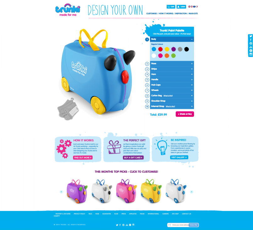 Trunki Customiser