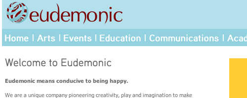 Eudemonic's old website