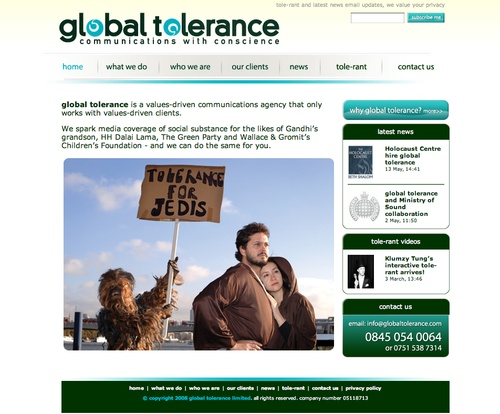 global tolerance website