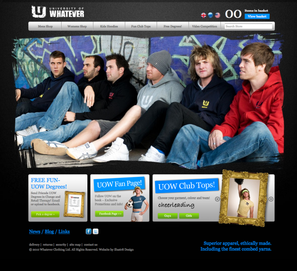 UOW Old Web Design
